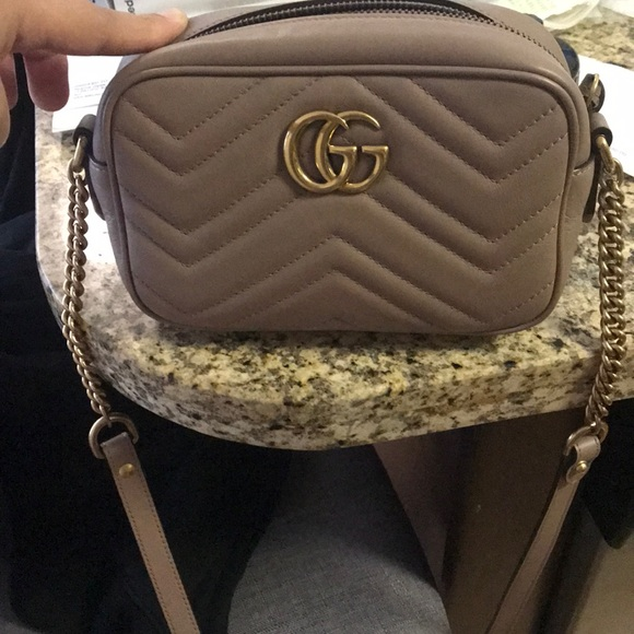d7e6dfc61a07 Gucci Bags | Nude Marmont Mateleasse Mini | Poshmark
